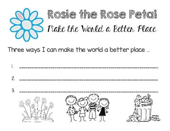 Rosie the Rose Petal Activity for Daisy Girl Scouts