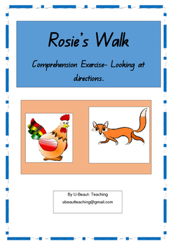 Rosie's Walk- Comprehension Exercise- Looking at directions