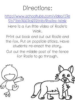 Rosie's Walk Interactive Book Freebie