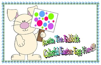 Rosita the rabbit's colorful Easter egg hunt