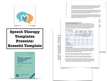 Rossetti Template | Speech Therapy Assessment