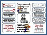 Rossini Composer of the Month (September) Bulletin Board Kit