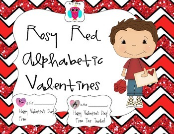 Rosy Red Alphabetic Valentines