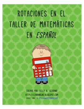 Math Workshop Rotations in Spanish