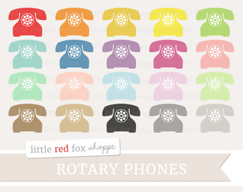 Rotary Phone Clipart; Telephone, Household, Vintage