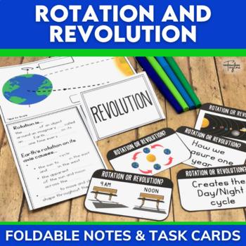 Rotate versus Revolve Sorting Cards