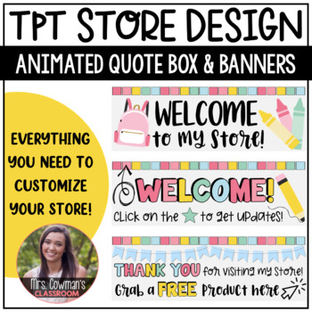Rotating Back to School {August} Personal Quote Box for your TpT Store