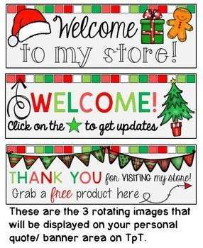 Rotating Christmas Season {December} Personal Quote Box for your TpT Store