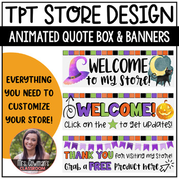 Rotating Halloween {October} Personal Quote Box for your TpT Store