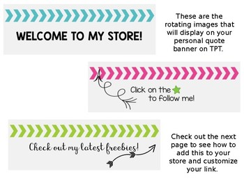 Rotating Personal Quote Chevron Banner {For your TPT Store}