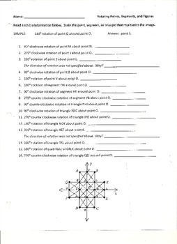 Rotating Points, Segments, and Figures