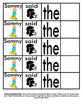 Rotating /S/ Sentence Cut & Paste Worksheets for Articulation Practice