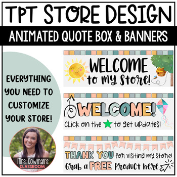 Rotating Spring Time {May} Personal Quote Box for your TpT Store