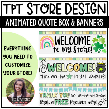 Rotating St. Patrick's Day {March} Personal Quote Box for your TpT Store