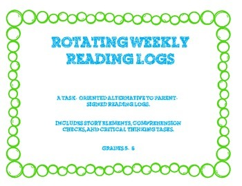 Rotating Weekly Reading Logs