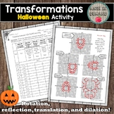 Transformations Halloween Activity (Reflection, rotation,
