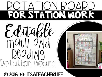 Rotation Board for Centers/Stations | Editable