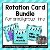 Literacy and Numeracy Rotation Card Bundle - Teal and Black