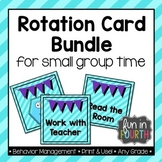 Literacy and Numeracy Rotation Card Bundle - Teal and Purple