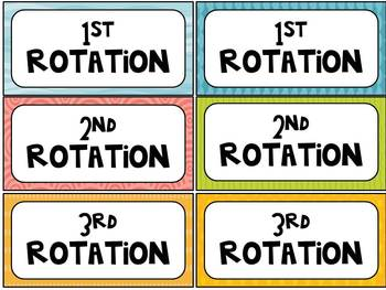 Rotation Cards {for Daily 5}