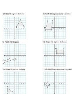 Rotation Graphing Practice
