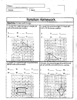 Rotation Homework