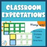 Classroom Routines-Rotation Menus for ELA, Math, Classroom