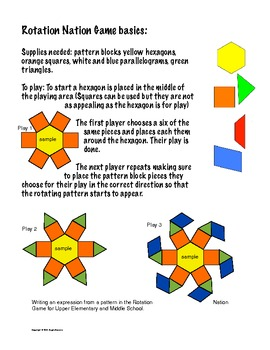 Rotation Nation - Rotational Symmetry and Writing Expressions