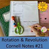 Rotation & Revolution Cornell Notes #21