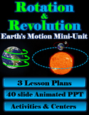 Rotation & Revolution Mini-Unit (3 lessons, powerpoint, activities and quiz)