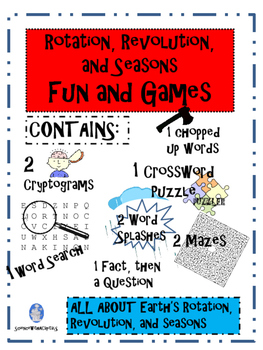 Rotation, Revolution and Seasons Fun and Games