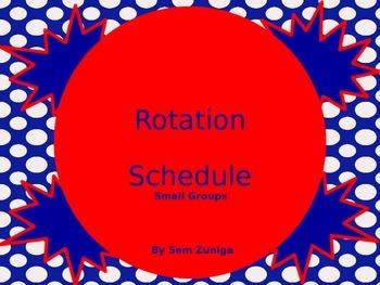 Rotation Schedule