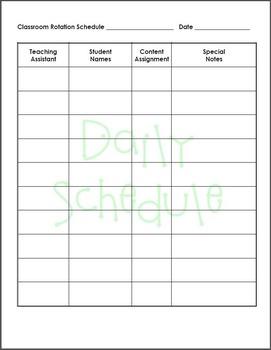 Rotation Schedule Multiple Periods/TAs & Single Period/Multiple TAs Editable
