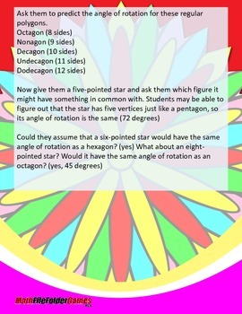 Rotation Symmetry (Symmetry Part 2) {Geometry Activity}