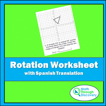 Rotations Worksheet Teaching Resources Teachers Pay Teachers