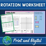 Transformations - Rotation Worksheets - Print and Digital