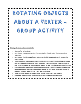 Rotation about a Vertex Group Activity