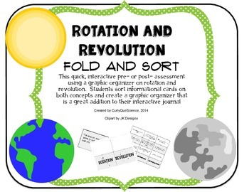 Rotation and Revolution Graphic Organizer (Fold and Sort)