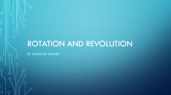 Rotation and Revolution Lesson