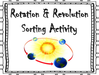 Rotation and Revolution Sorting Activity