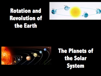 Rotation and Revolution of the Earth and Planets of the So