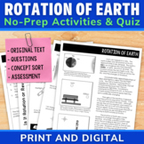 Rotation of Earth | Day Night Cycle | Comprehension Unit D