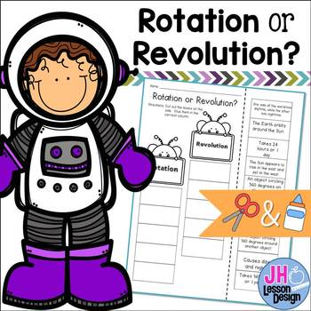 Rotation or Revolution?  Cut and Paste Activity