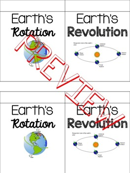 Rotation vs. Revolution Foldable (RoDAYtion and Revolution)