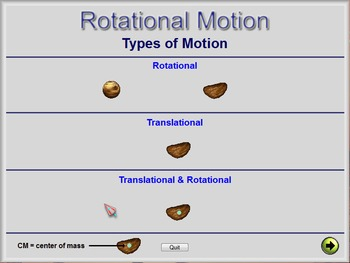 Physics - Rotational Motion Software - PC Version