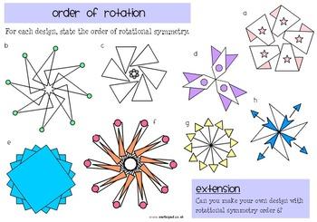 Rotation Symmetry Mega Worksheet Pack