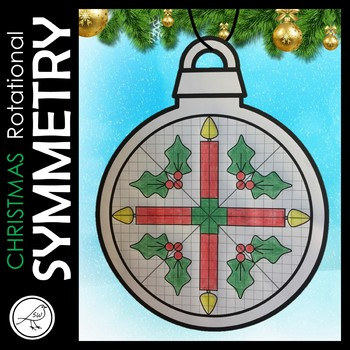 Rotational Symmetry / Radial Symmetry  -  CHRISTMAS Math Art