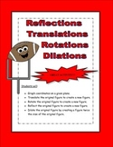 Transformations Graphing Activity (Reflections, Rotations, Translations)