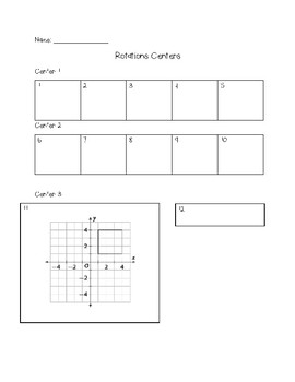 Rotations Centers