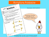 Transformations: Rotations Foldable for Interactive Notebooks